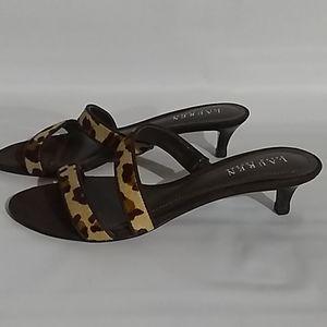 Lauren Ralph Lauren Phoebe Leopard Heels Size 7.5